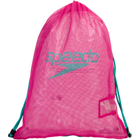 speedo Equipment Sacca in rete L, electric pink/green glow
